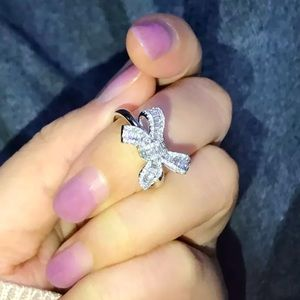 925 Crystal Bow Ring